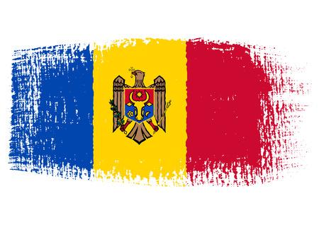 brushstroke: brushstroke flag Moldova