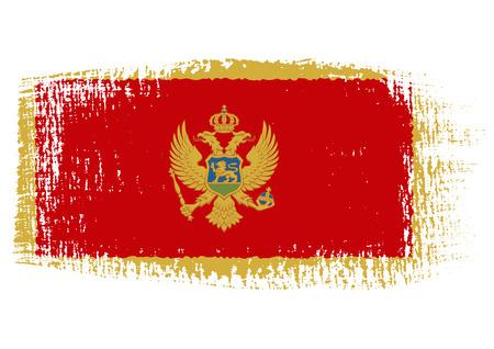 brushstroke flag Montenegro Vector