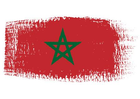 brushstroke: brushstroke flag Morocco