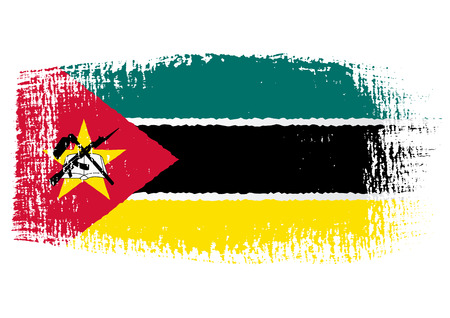 streaked: brushstroke flag Mozambique