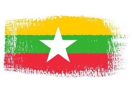 brushstroke: brushstroke flag Myanmar