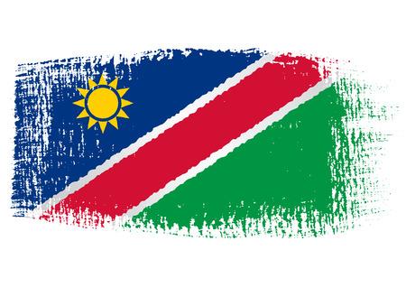 namibia: brushstroke flag Namibia