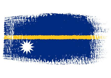 streaked: brushstroke flag Nauru Illustration