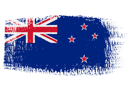 brushstroke flag New Zealand Illustration