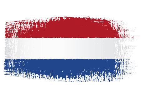 streaked: brushstroke flag Netherlands