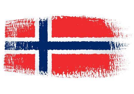 streaked: brushstroke flag Norway