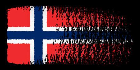 brushstroke: brushstroke flag Norway
