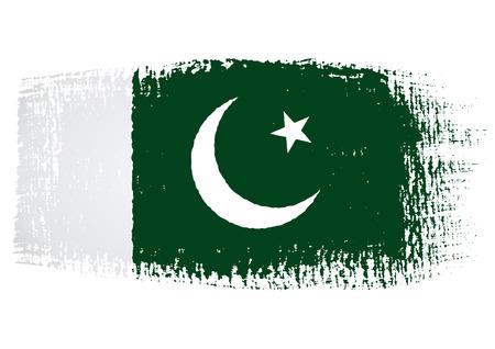 flag of pakistan: brushstroke flag Pakistan