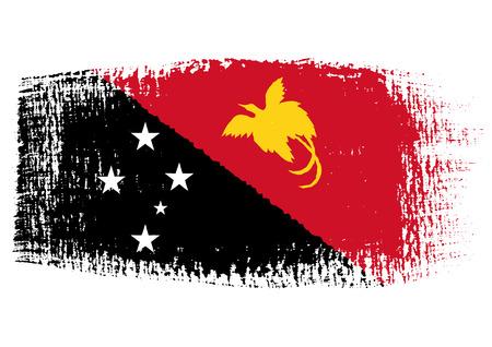 papua: brushstroke flag Papua New Guinea Illustration