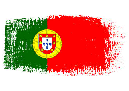 streaked: brushstroke flag Portugal