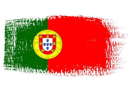 drapeau portugal: coup de pinceau drapeau Portugal