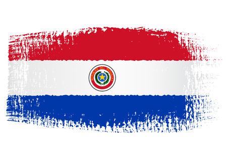 bandera de paraguay: bandera pincelada Paraguay