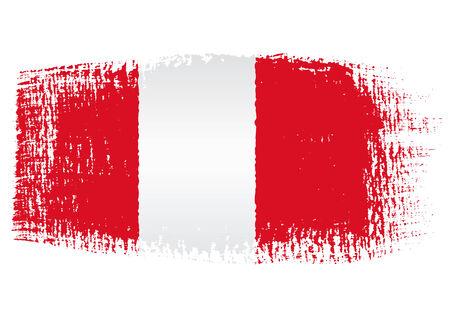bandera de peru: bandera pincelada Perú