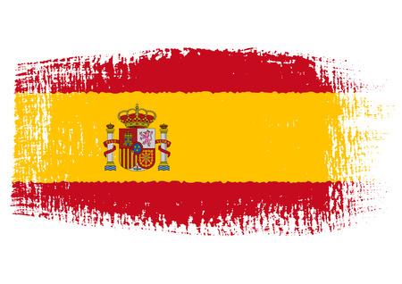ブラシ ストロークの旗スペイン  イラスト・ベクター素材