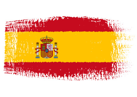brushstroke flag Spain Illustration