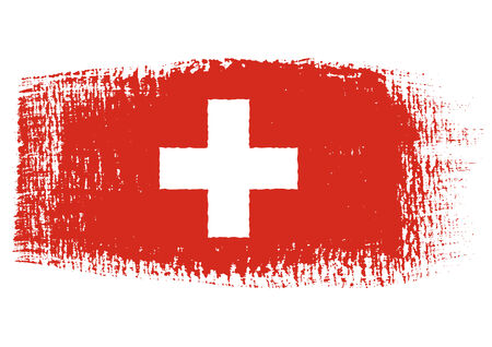 switzerland flag: brushstroke flag Switzerland Illustration