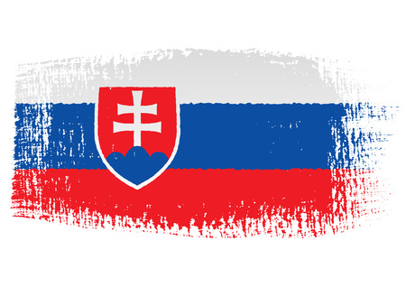 brushstroke: brushstroke flag Slovakia