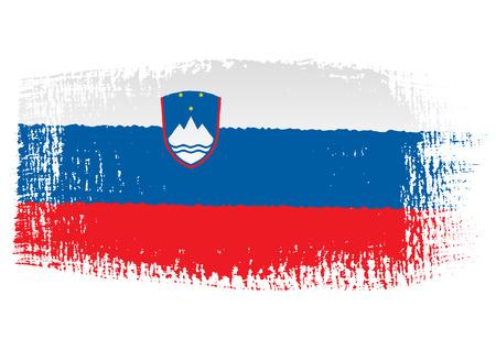 streaked: brushstroke flag Slovenia