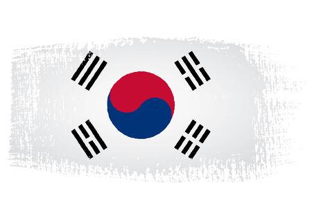 streaked: brushstroke flag South Korea