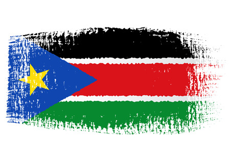 south sudan: brushstroke flag South Sudan