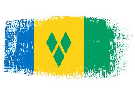 streaked: brushstroke flag Saint Vincent and the Grenadines