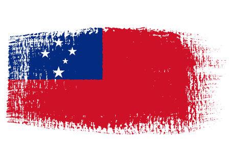 samoa: brushstroke flag Samoa