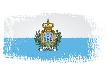 san marino: brushstroke flag San Marino Illustration