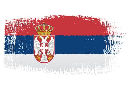 serbia flag: brushstroke flag Serbia