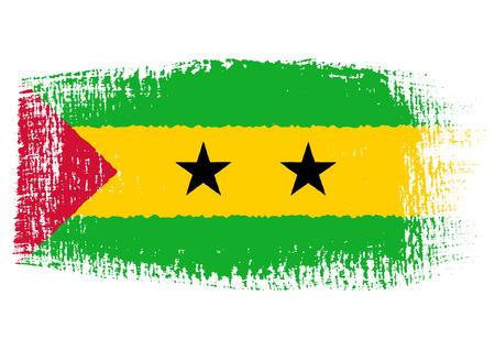 principe: bandera pincelada Santo Tomé y Príncipe Vectores