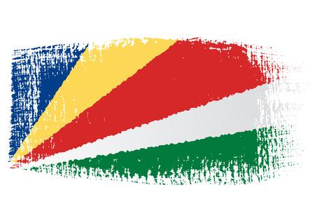 seychelles: brushstroke flag Seychelles Illustration