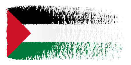 palestine: brushstroke flag Palestine Illustration