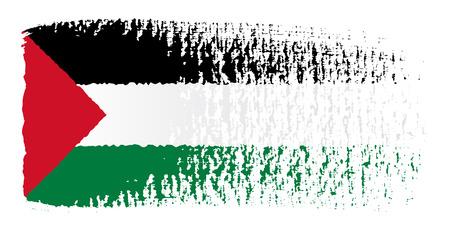 streaked: brushstroke flag Palestine Illustration