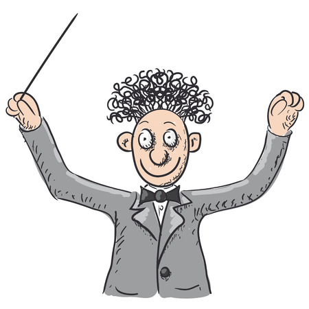 excel: Conductor orchestra illustration  Illustration