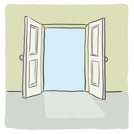 abrir puerta: puerta abierta