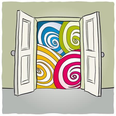 psychedelia: open door Illustration