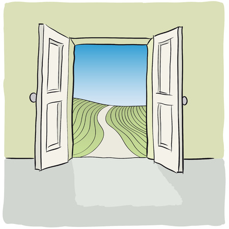 offenen Tür Vektorgrafik