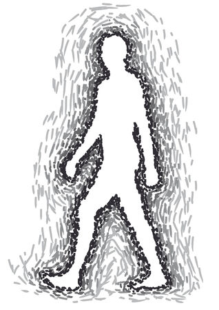 psyche: person walking Illustration