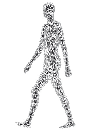 dynamic activity: person walking Illustration