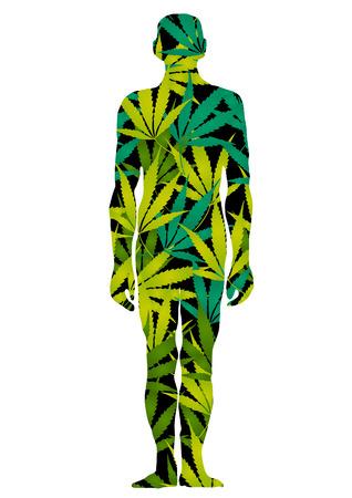 cannabis leaf: marijuana man
