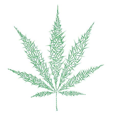 hemp: marijuana icon Illustration