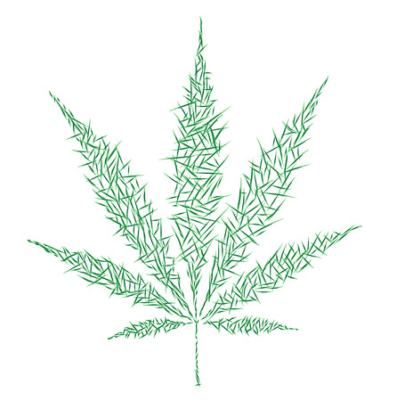 psychedelia: marijuana icon Stock Photo