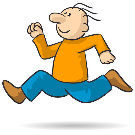 quickness: person running