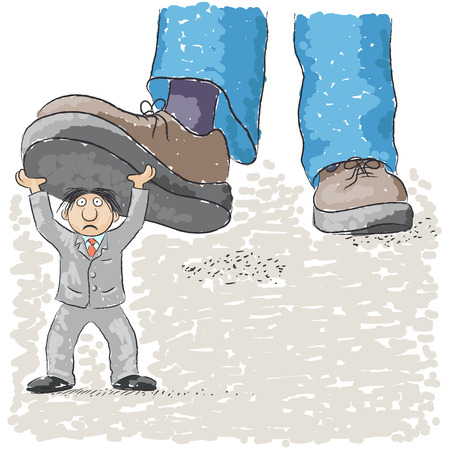 oppression: foot tramples man Illustration