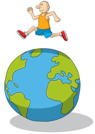 quickness: run around the world Illustration