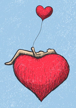 suspend: lying above the heart