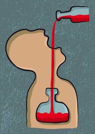 tomando alcohol: bebiendo alcohol
