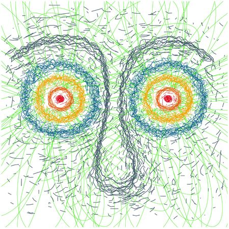 introspection: psychedelic face