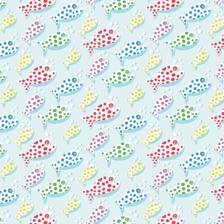 animal pattern: repetitive pattern background with fish Illustration
