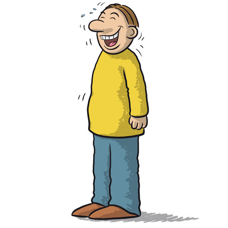 character of people: a character with funny smile