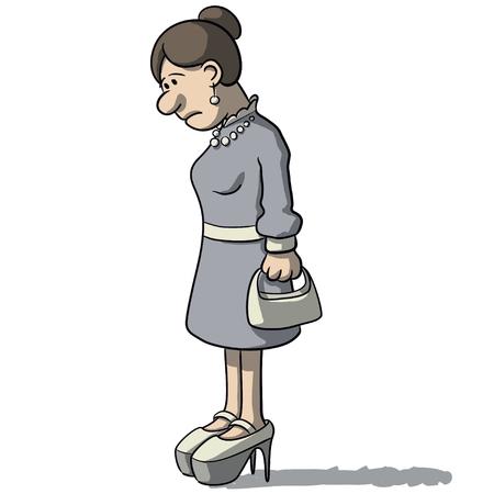 dejected: cartoon women sad and depressed Illustration